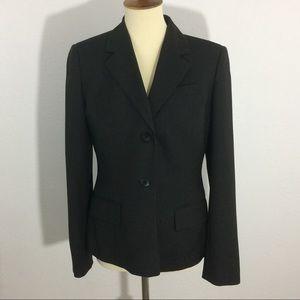 LOFT Ann Taylor Button Front Wool Blend Blazer